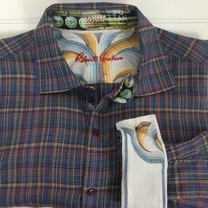 Robert Graham Plaid Btn Down Flip Cuff Shirt XL
